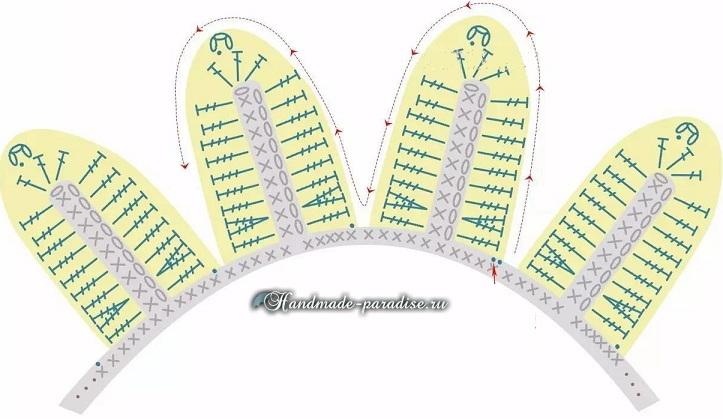 Схемы вязания подсолнуха - декоративной сидушки для стула (4)