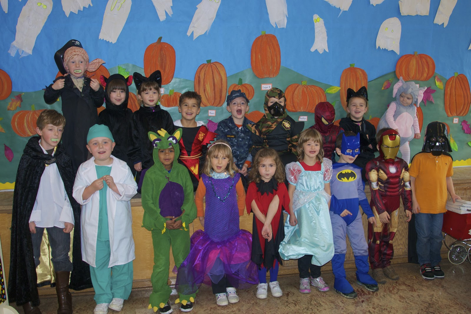 Yellow Crew Macaulay Kindergarten Halloween Costume Party