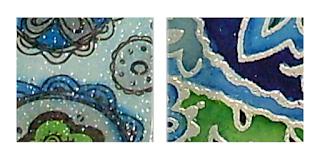 Detailfotos von embossten Flächen