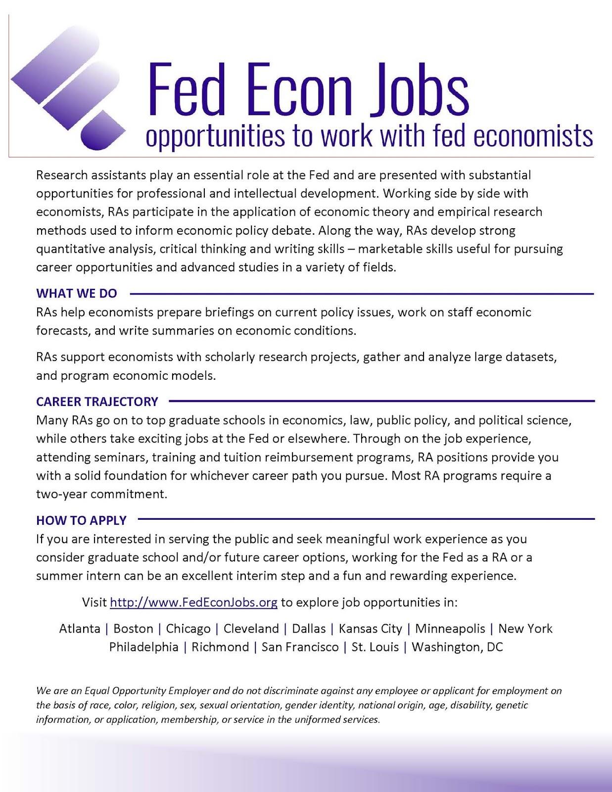 ECON Undergraduate Blog: Federal Reserve System - Job
