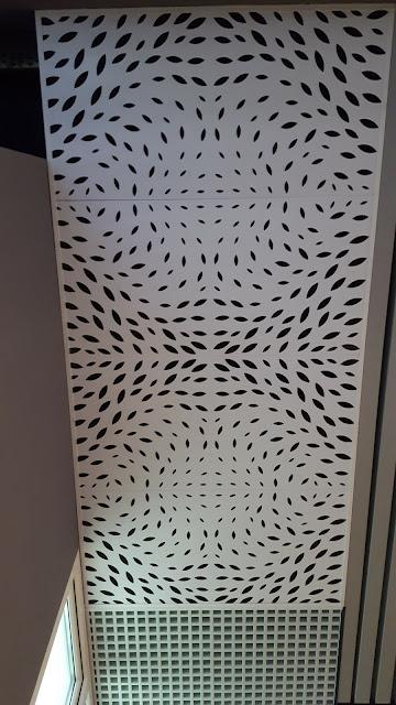 dekoratif görünümlü metal asma tavan
