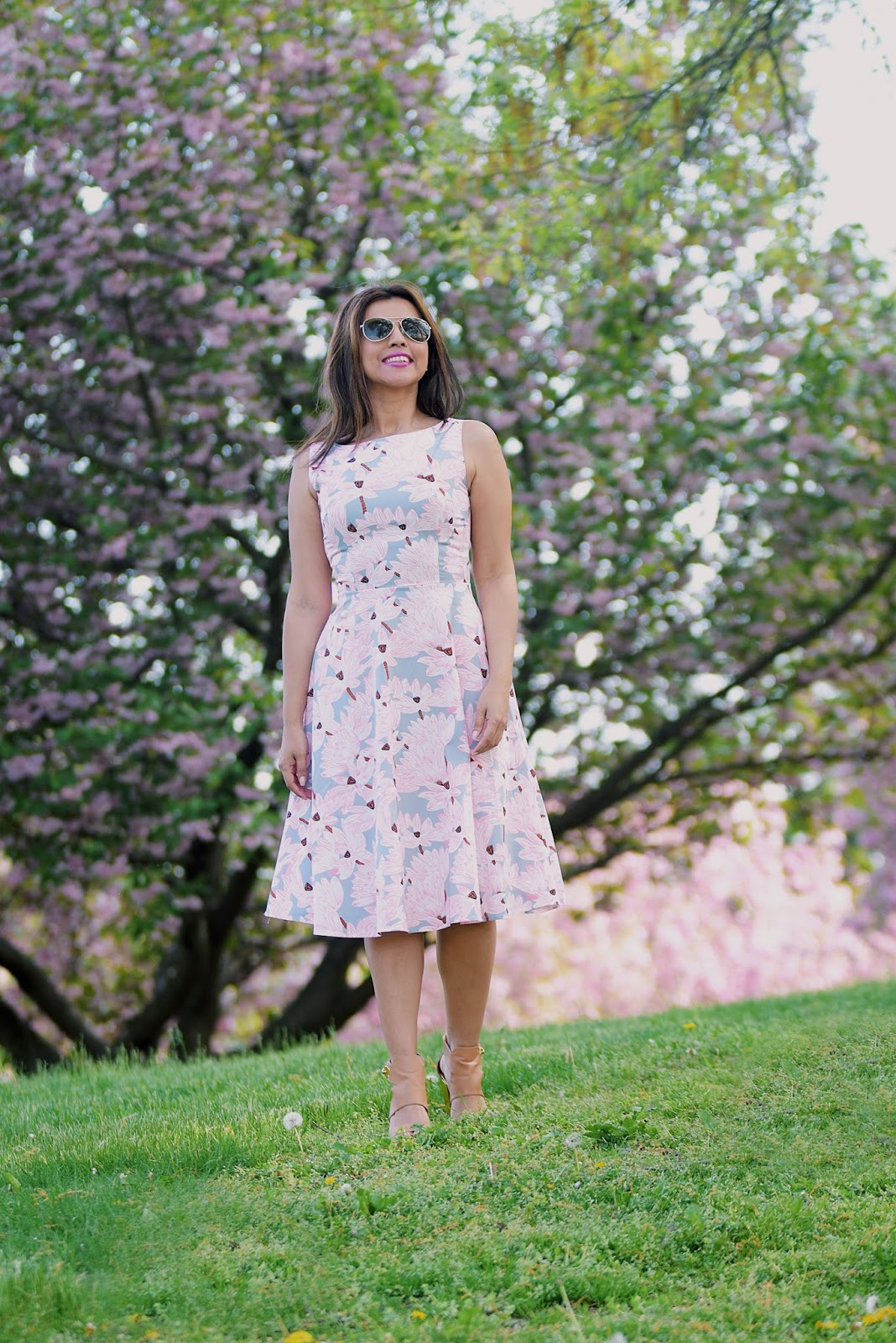 Cherry Blossom Dress-mariestilo-lightinthebox-fashionblogger-lookoftheday-primavera-spring style-armandhugon-celebrando la primavera