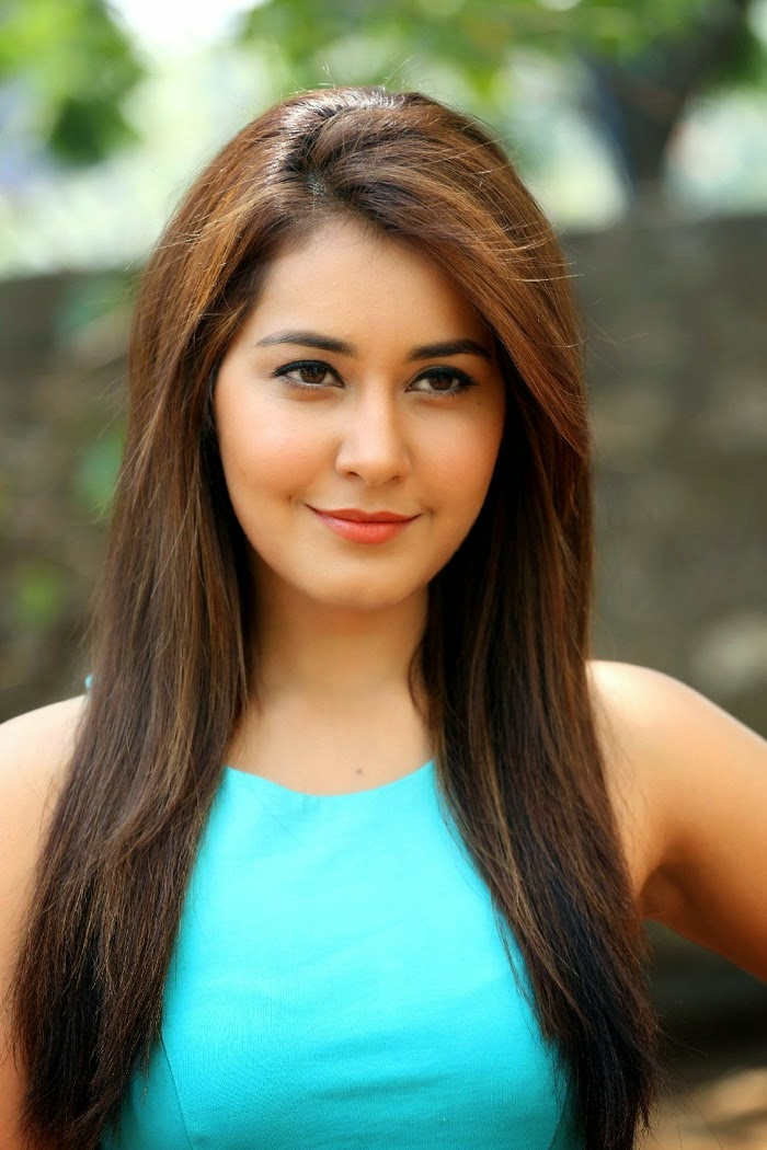 Kollywood Actress Rashi Khanna Latest Photoshoot In Sky Blue Dress
