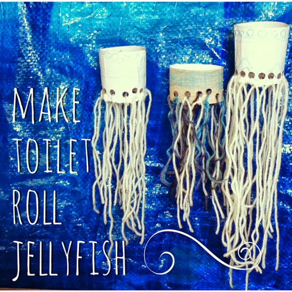 make toilet roll jellyfish :: an under the sea craft project