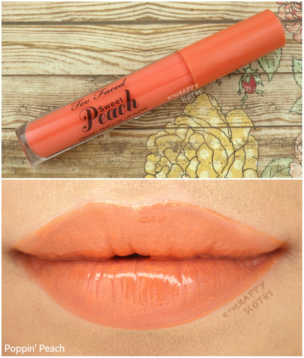Too Faced Sweet Peach Lip Gloss Poppin' Peach