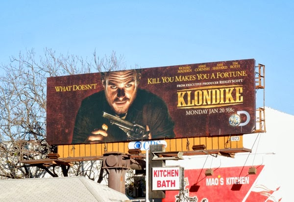 Klondike TV mini-series premiere billboard