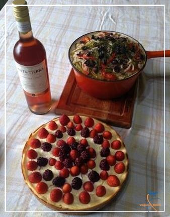 Bacalhau Norueguês e Cheesecake Ligth de Frutas Vermelhas