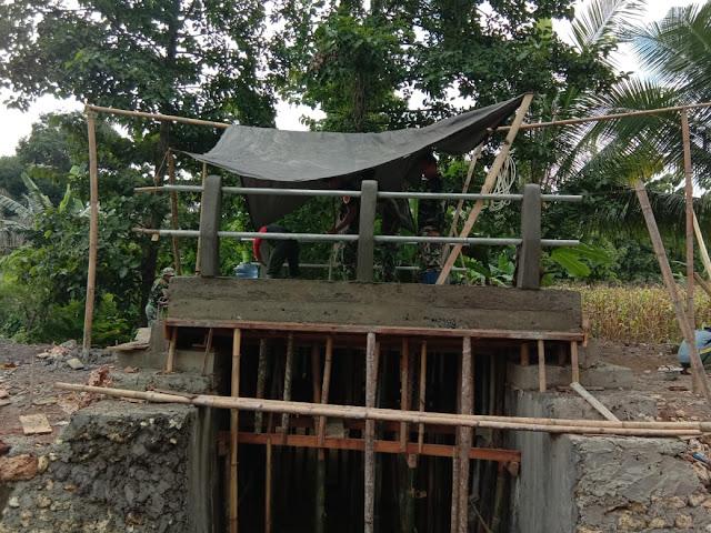 Atasi Kesulitan Masyarakat, TMMD ke 104 Kodim 1407/Bone Bangun Jembatan