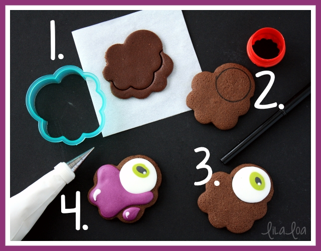 How to make decorated sugar cookies that look like melting eyeballs for Halloween.