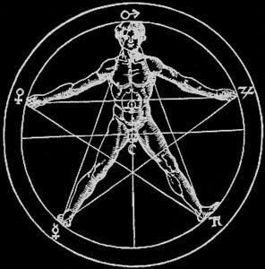 El+Hombre+Microc%C3%B3Smico+ +Teurgia+Black Pentagrama De Foc