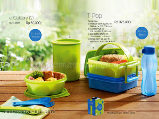 T Pop & Cutlery Promo Tupperware November 2016