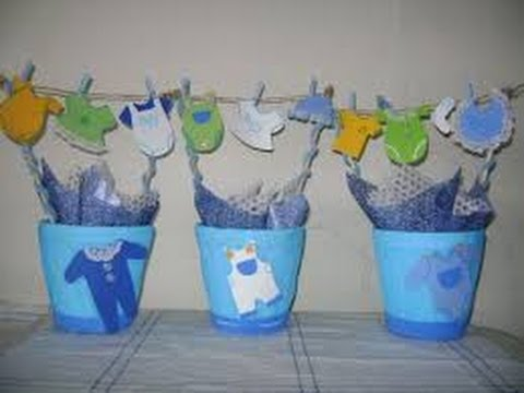 Centros De Mesa Para Baby Shower Nino - Decoracion-para-baby-shower