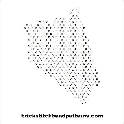 Free brick stitch seed bead earring pattern letter chart