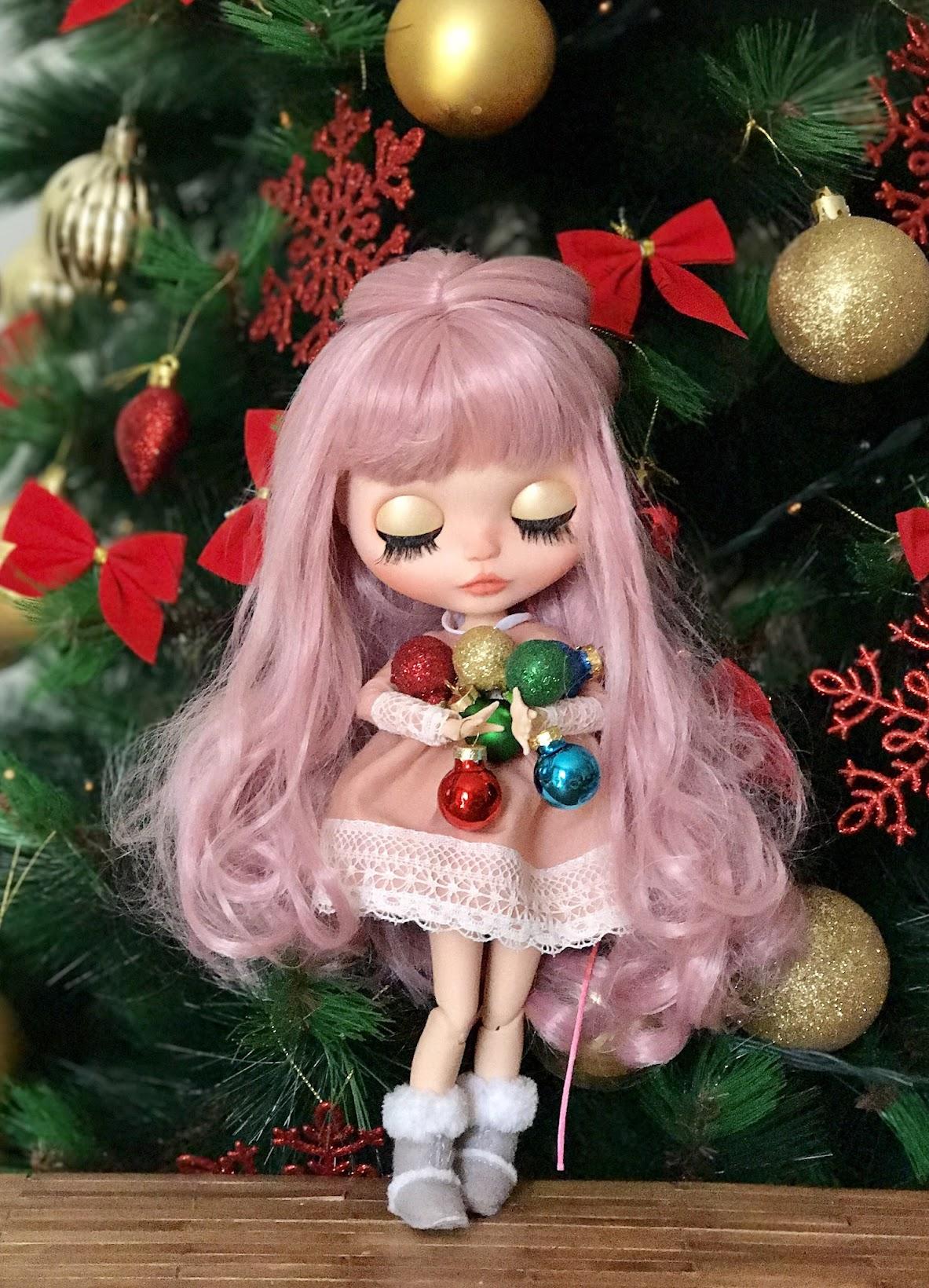 Blythe dolls, blythe, mi casita de muñecas, marta del pino, customizar blythe, navidad