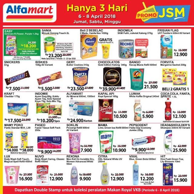 Katalog Harga Promo ALFAMART JSM Akhir Pekan 06 - 08 April 2018