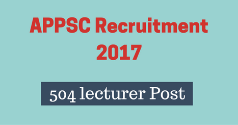 APPSC Recruitment 2017