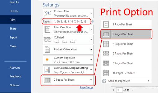 print booklet microsoft word