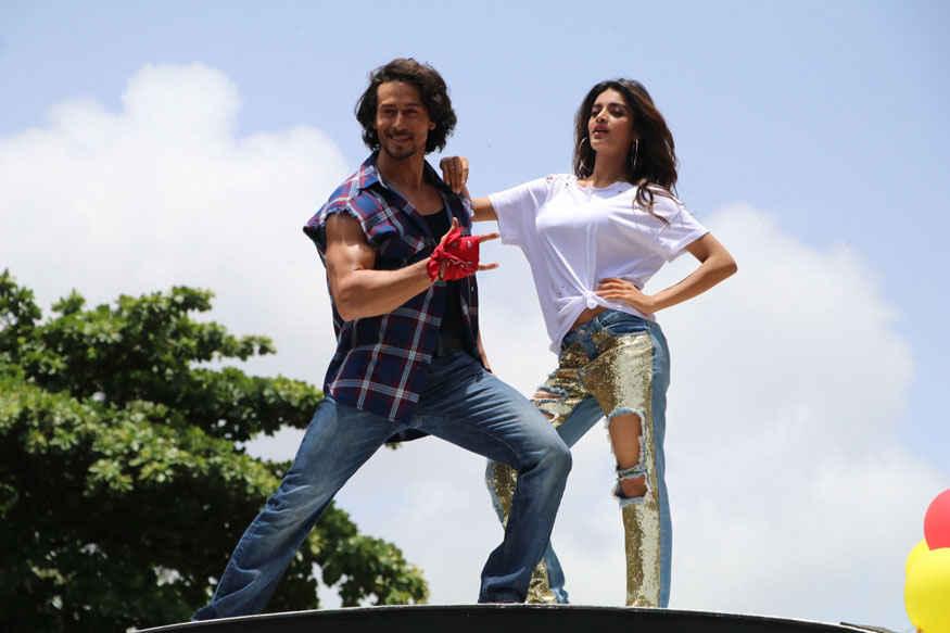 Tiger Shroff and Nidhhi Agerwal at Promotional Event of Munna Michael at Chandan Cinema