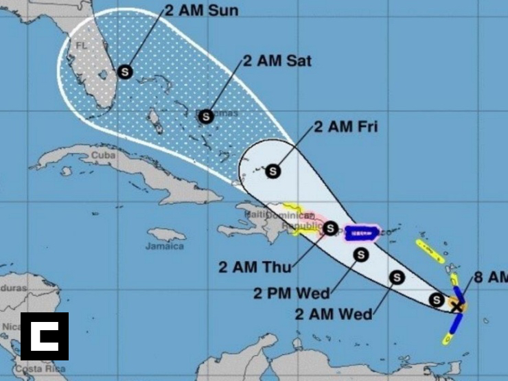 """RD emite alerta de huracán por la tormenta tropical """"Dorian"""""""