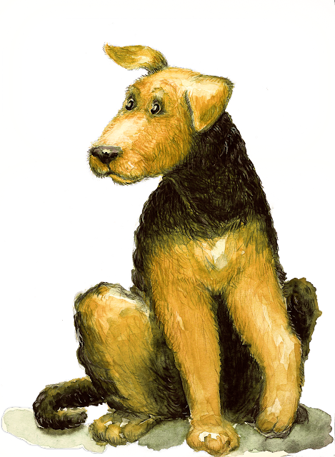 Kinderbuchillustration Hund, children's book illustration, dog