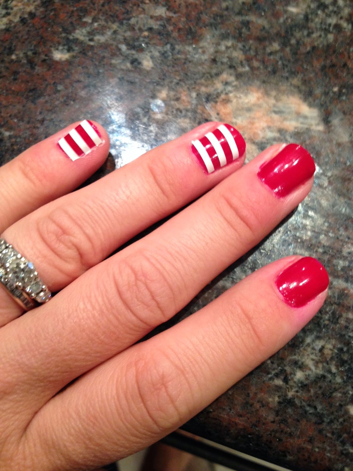 DIY, do it yourself, patriotic, nails, tutorials, fingernails