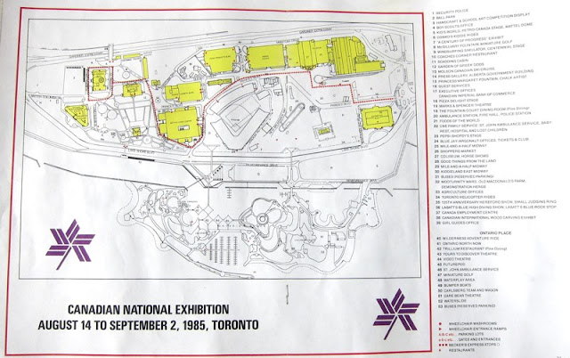Map: Canadian National Exhibition. 1985