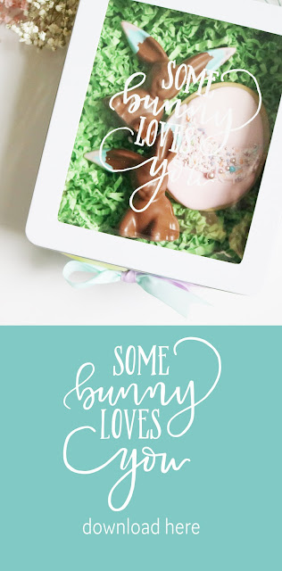sweet DIY idea for Easter - some bunny loves you free printable | Creative Bag