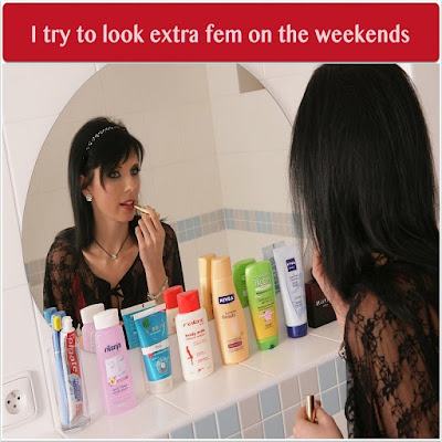 On Weekends - Sissy TG Caption