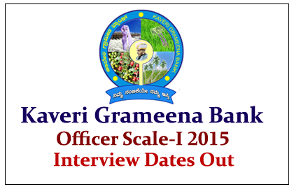 Kaveri Grameena Bank Officer Scale-I