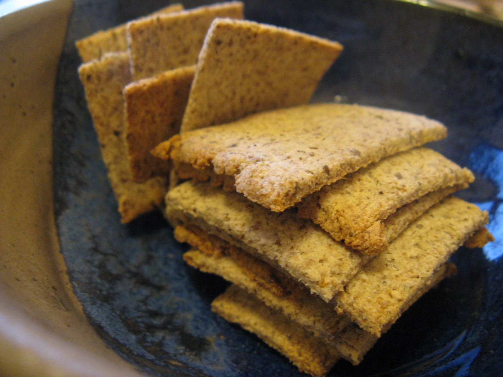 For the Love of Food!: Coconut Flour Chia Crackers (grain