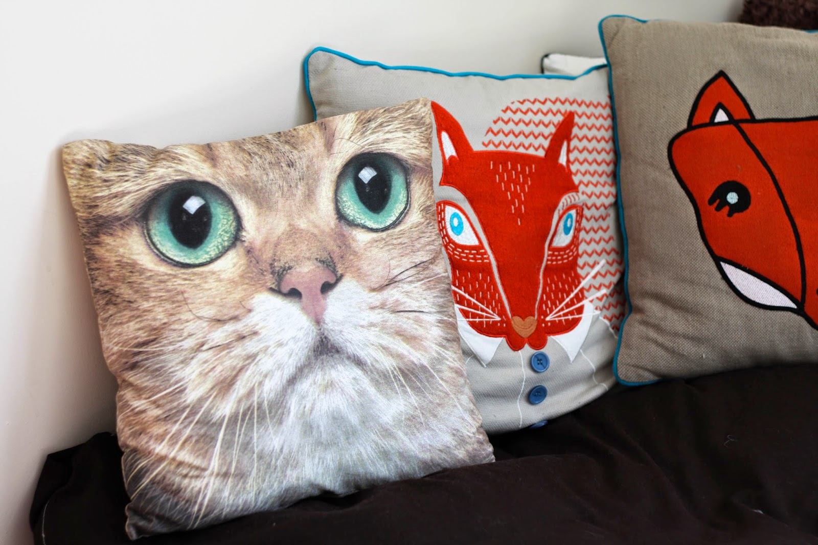 cat cushion fox cushion squirrel cushion