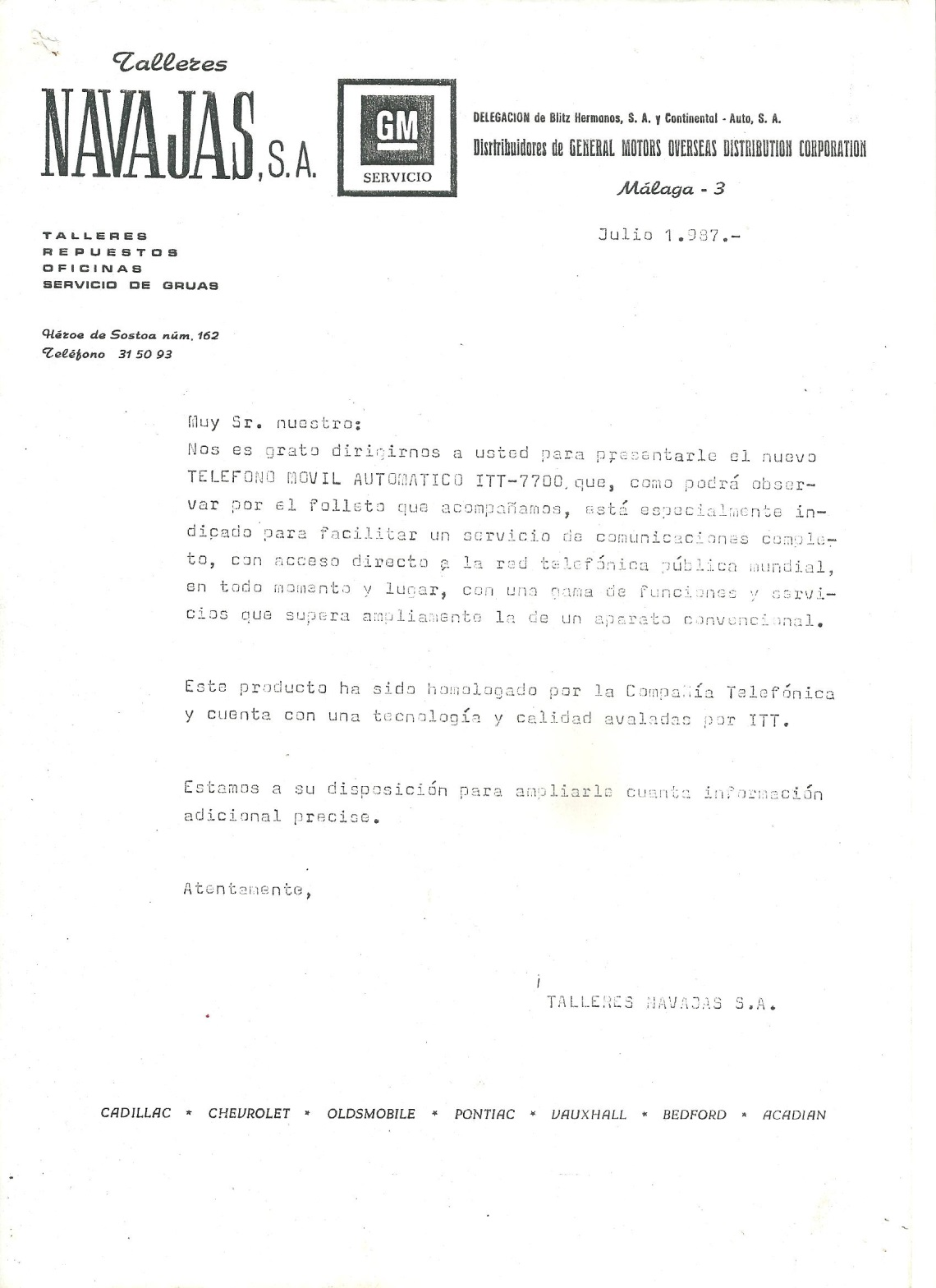 HISTORIA DEL AUTOMOVIL EN MALAGA
