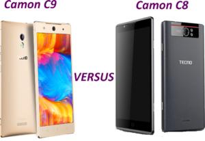 Tecno Camon C8 vs C9
