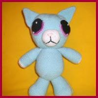 Gato azul amigurumi