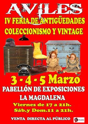 Cartel Feria de Antigüedades de Avilés 2017