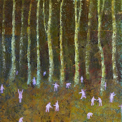 """Forest Edge"" painting by Simon Garden - oil on panel, 2017 