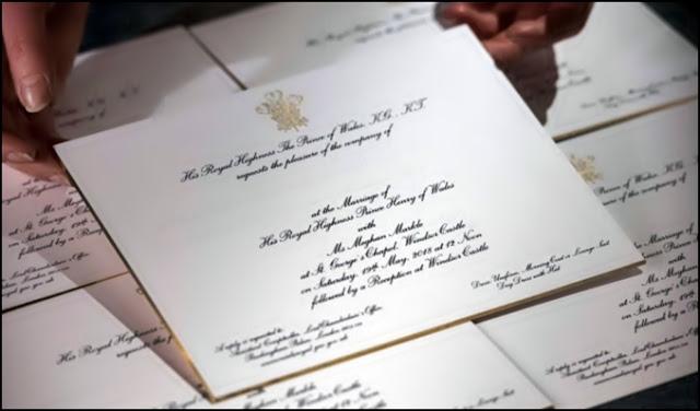 cum arata invitatiile la nunta printului Harry cu Meghan Markle