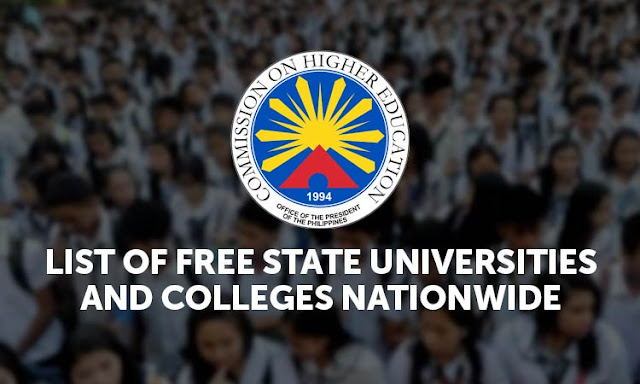 STATE COLLEGES AND UNIVERSITIES COVERED BY FREE TUITION LAW