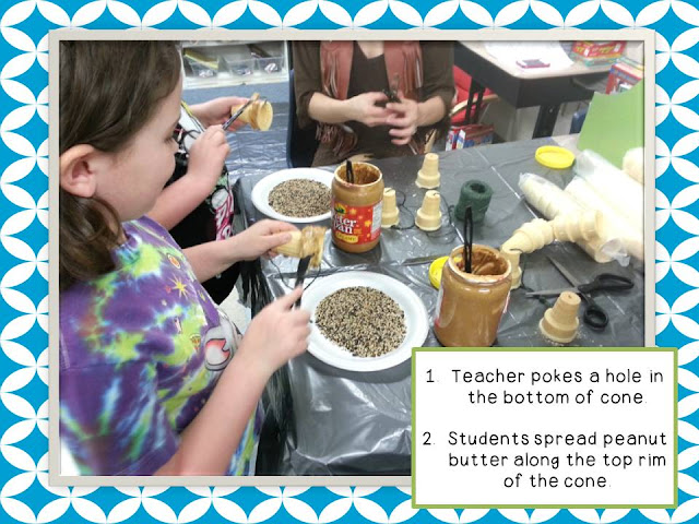 Hands on craft for Earth Day- homemade bird feeder