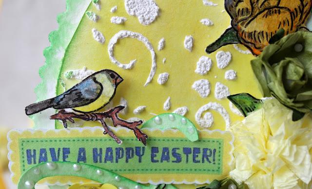 пасхальная открытка, яйцо, раскрашенный штамп
