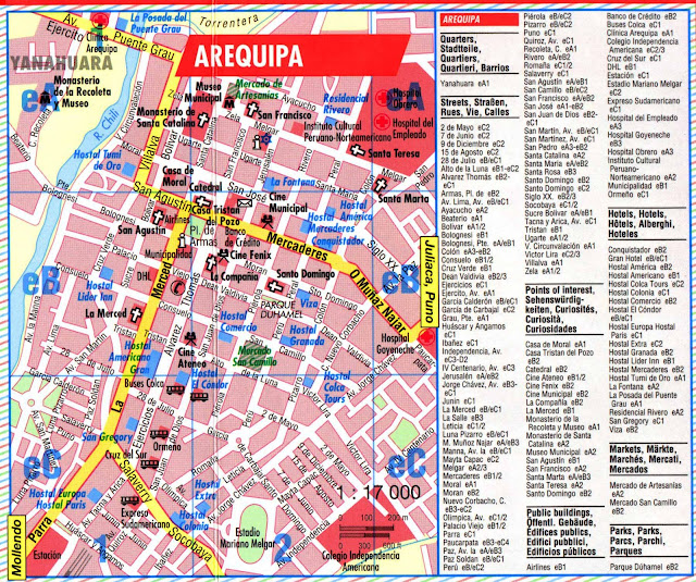 Mapa do centro de Arequipa