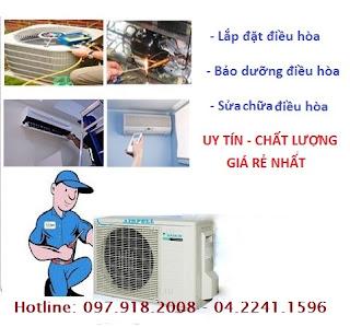 Sửa điều hòa báo lỗi tại Hà Nội