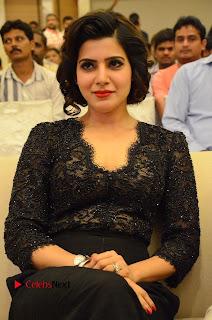 Actress Samantha Pictures in Black Dress at A Aa Success Meet  0039.JPG
