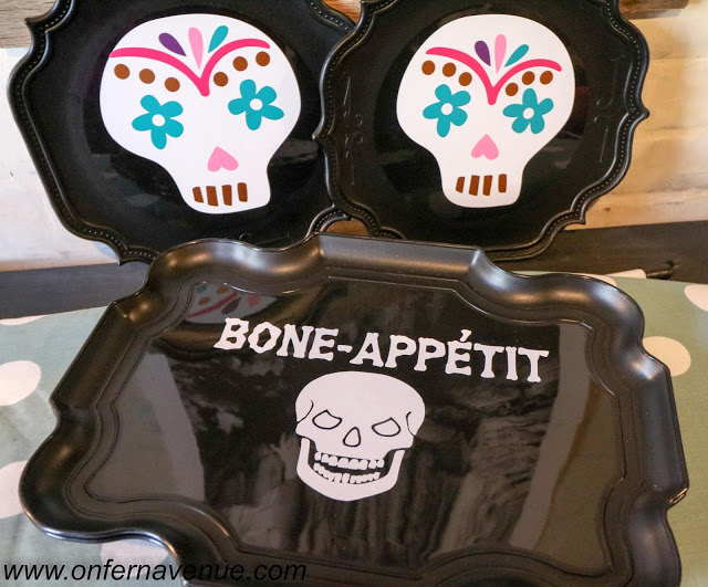sugar skull, sugar skull decor, halloween decor