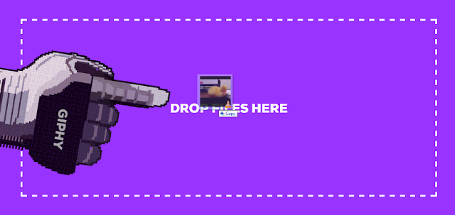 Just Drag and Drop your file on selected GIF Maker Tab