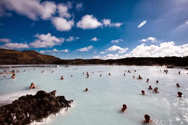 teal waters of the blue lagoon