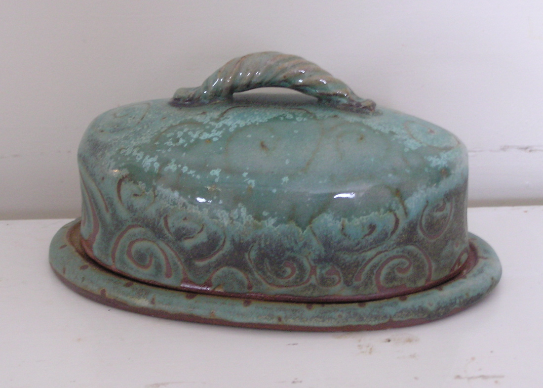 Shop Fmp Oval Covered Butter Dish Turquiose 38