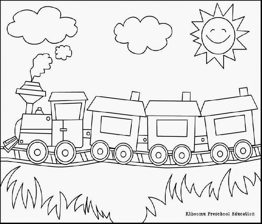 Train Song and Coloring Page from Kiboomu Kids Songs