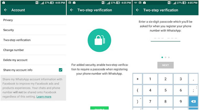 How to enable WhatsApp Two-Step to verify on PC Windows 7/8/10