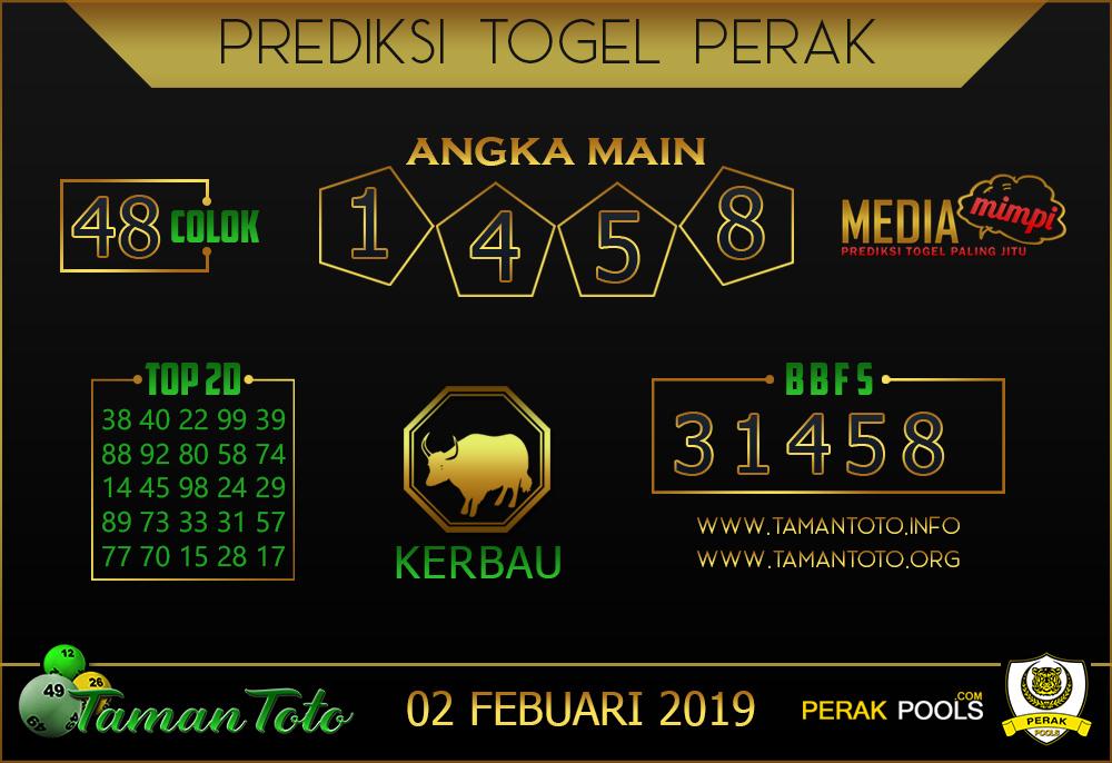 Prediksi Togel PERAK TAMAN TOTO 01 FEBRUARI 2019